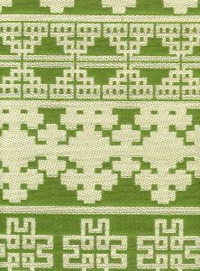 010953T ADOBE HANDSTITCH Celadon Ecru Quadrille Fabric