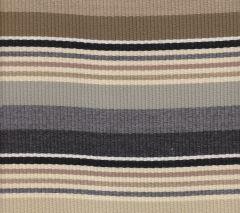 7280-07 CABANA STRIPE Multi Grays Taupe Black Quadrille Fabric