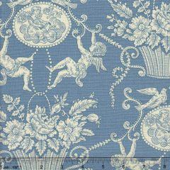 1423-01 CHERUBINS TOILE Bleu Quadrille Fabric
