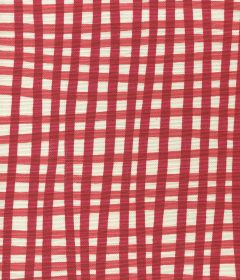 AC105-8LC COUNTRY CHECK Light Red on Tint Quadrille Fabric