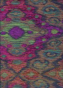 010983T FANTASIA Multi Red Green Orange Quadrille Fabric