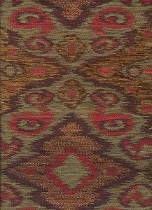 010982T FANTASIA Multi Terracotta Brown Quadrille Fabric