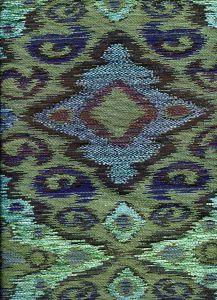 010980T FANTASIA Multi Turquoise Blues Quadrille Fabric