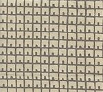 4040-03 FEZ BACKGROUND Steel Gray on Tan Quadrille Fabric