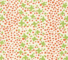 AC220-07LC JACKS II Lime Green Orange Dots on Tint Quadrille Fabric
