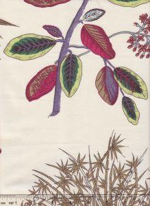 2391 JARDIN DES PLANTES PRINT Multi Quadrille Fabric