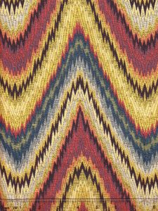 009850T LIBRARIA Multi Blues Gold Rosso Quadrille Fabric