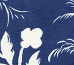 6015-08 LYFORD BACKGROUND Navy on White Quadrille Fabric