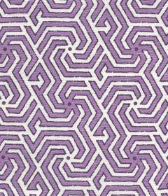 2520-04 MAZE REVERSE TWO COLORS Lilac Purple Quadrille Fabric