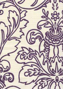 302754F MONTY OUTLINE Purple on Tint Quadrille Fabric