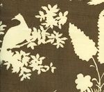 301983F PARADISE BACKGROUND Brown on Tint Quadrille Fabric