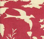 301982F PARADISE BACKGROUND Raspberry on Tint Quadrille Fabric