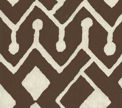 AC107-38 SAHARA Brown on Tint Quadrille Fabric