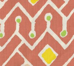 AC117-03 SAHARA MULTI COLOR Terracotta Purple Yellow Lime on Tint Quadrille Fabric