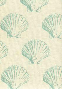7150-03 SEASHELL Aqua on Tint Quadrille Fabric
