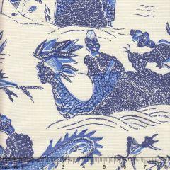 7250-04 TABLEAU II Indigo New Navy Bali Blue on Tint Quadrille Fabric