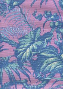 306275FLC TROPIQUE MULTI BLOTCH Multi Blues Lilac on cotton/linen Quadrille Fabric