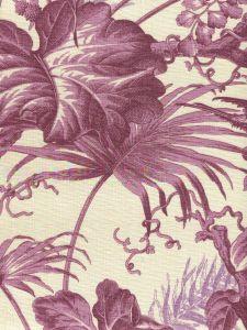 306193F TROPIQUE Multi Purple on Tint Quadrille Fabric