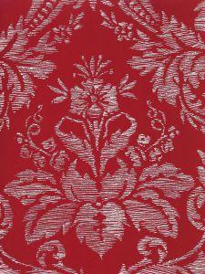 302310V-04VV VICTORIA ON VENETIAN VELVET White on Orange Quadrille Fabric
