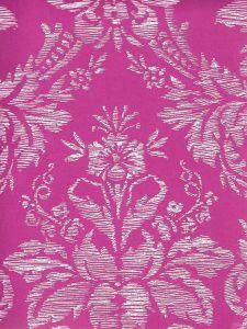 302310V-03VV VICTORIA ON VENETIAN VELVET White on Pink Quadrille Fabric