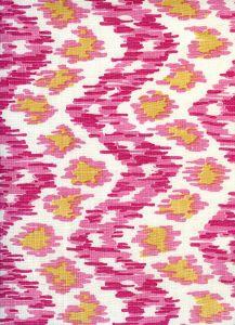 7335V-02T ZIZI VERTICAL Pink Light Pink Gold on Tint Quadrille Fabric