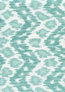 7335V-04W ZIZI VERTICAL Aquas on White Quadrille Fabric