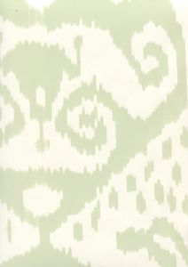 306045W MALAYA Celadon On Almost White Quadrille Wallpaper