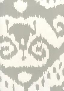 306046W MALAYA Grey On Almost White Quadrille Wallpaper