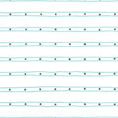 AP209-06 SOHO Turquoise Navy On White Quadrille Wallpaper