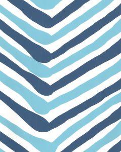 AP950-04 ZIG ZAG MULTI COLOR New Blue Navy On Almost White Quadrille Wallpaper