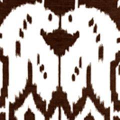 6460-05WP ISLAND IKAT Brown On White Quadrille Wallpaper