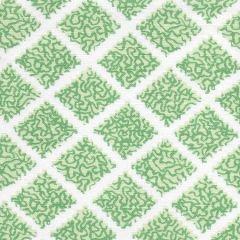 JF01000-04 SHANGHAI Multi Greens on White Quadrille Fabric