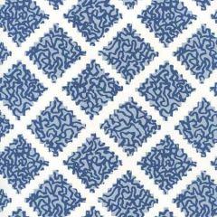JW01000-11WP SHANGHAI Navy Windsor Blue On White Quadrille Wallpaper