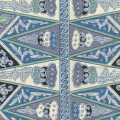 3060-03 MALAY STRIPE French Blue Quadrille Fabric