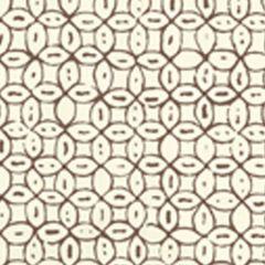 6450-07WP MELONG BATIK Brown On Off White Quadrille Wallpaper