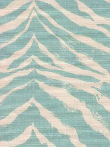 8020-02 NAIROBI PETITE Aqua on Tint Quadrille Fabric