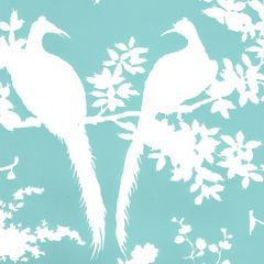 301980WWP PARADISE BACKGROUND Turquoise On White Quadrille Wallpaper