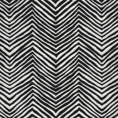 AC303-BLKW PETITE ZIG ZAG Black on Oyster White Quadrille Fabric