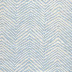 AC303-105 PETITE ZIG ZAG Powder Blue on Tint Quadrille Fabric
