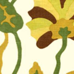 AP804-18 POTALLA Multi Greens Rust On Off White Quadrille Wallpaper