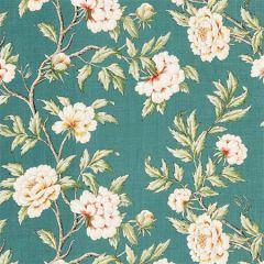 SC 000216616 16616-002 PEONIA LINEN PRINT Emerald Isle Scalamandre Fabric