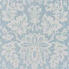 SC 000327136 27136-003 METALLINE DAMASK Bluestone Scalamandre Fabric