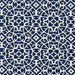 SC 000516559 16559-005 ANSHUN LATTICE Indigo Scalamandre Fabric