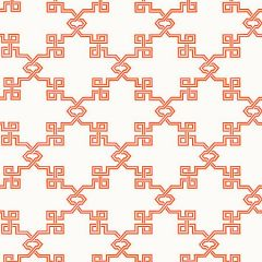 SC 0005WP88373 WP88373-005 SUZHOU LATTICE Coral Scalamandre Wallpaper