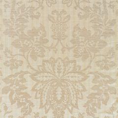 27136-001 METALLINE DAMASK Champagne Scalamandre Fabric