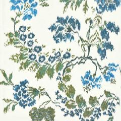 16611-002 KEW GARDENS WARP PRINT Blues On Ivory Scalamandre Fabric