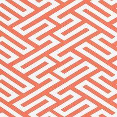 27218-003 CANTON FRET APPLIQUE Coral Scalamandre Fabric