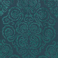 27219-003 CIRRUS VELVET DAMASK Emerald Scalamandre Fabric