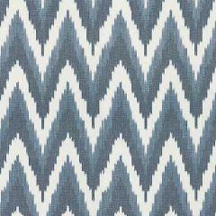 27185-004 ADRAS IKAT WEAVE Lapis Scalamandre Fabric