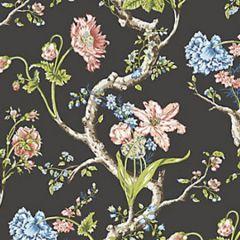WP88432-004 ANDREW JACKSON FLORAL Noir Scalamandre Wallpaper